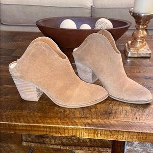 chinese laundry suede backless booties NWOT